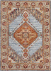 Liliana Transitional Persian Aztec Grey Red Flatweave High-Low Rug
