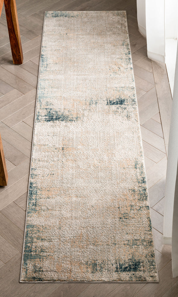 Marius Gold Vintage Persian Mosaic High-Low Rug