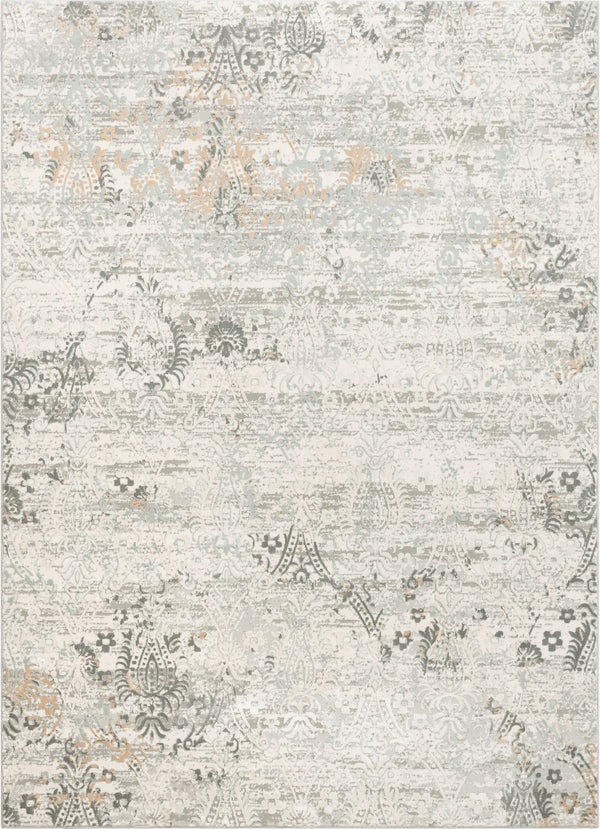 Astrid Grey Vintage Persian Panel High-Low Rug