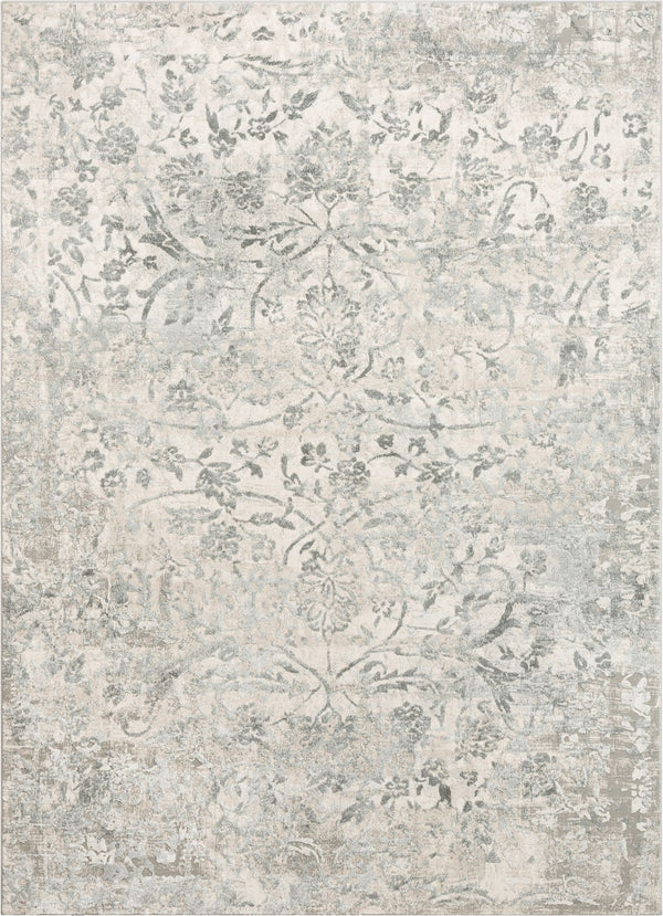 Campbell Grey Vintage Persian Floral High-Low Rug