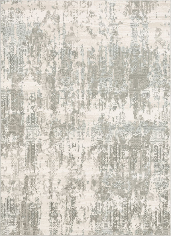 Eliza Grey Vintage Persian Panel High-Low Rug