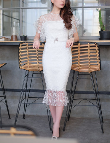 DECILLA DRESS - WHITE