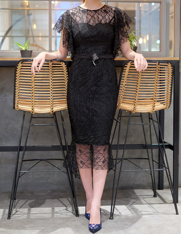 DECILLA DRESS - BLACK