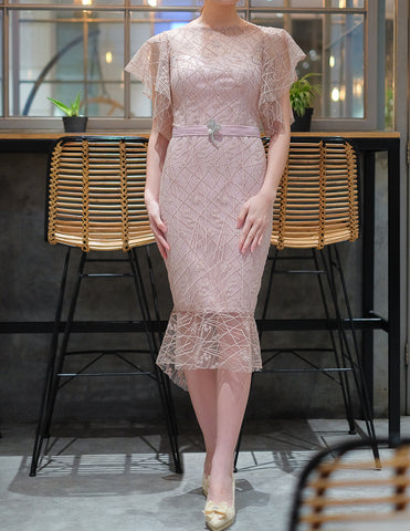 DECILLA DRESS - DUSTY PINK