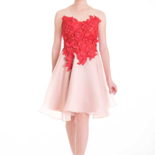 MARIPOSA DRESS - RED NUDE