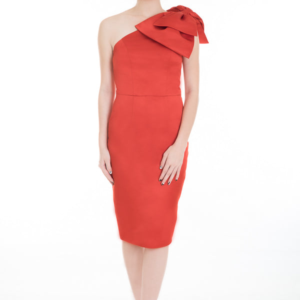 BOW DRESS - RED