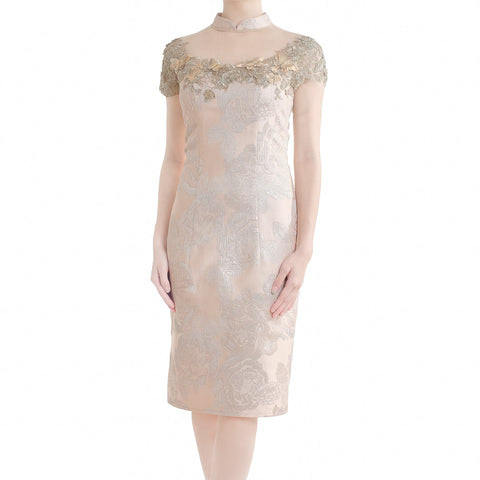 BUTTERFLY SHANGHAI DRESS - ROSE GOLD