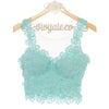 MAGNOLIA SLEEVELESS TOP - TURQUOISE