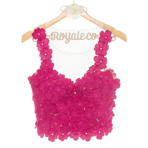 MAGNOLIA SLEEVELESS TOP - FUCHSIA