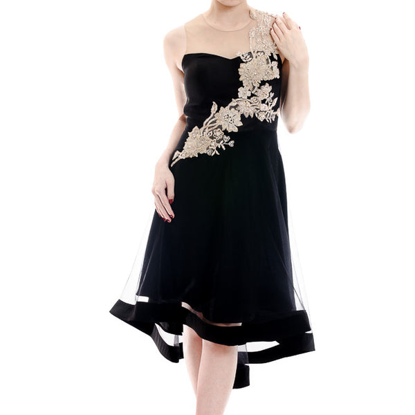 CRYSTAL DRESS - BLACK