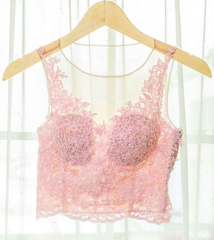LACEY V SLEEVELESS TOP - BABY PINK