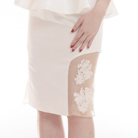 MARIAH SKIRT - WHITE