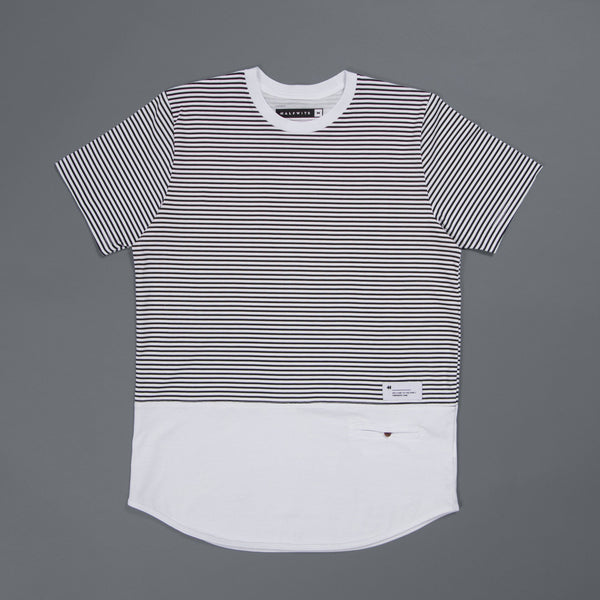 CREW CUT (STRIPE/WHITE)