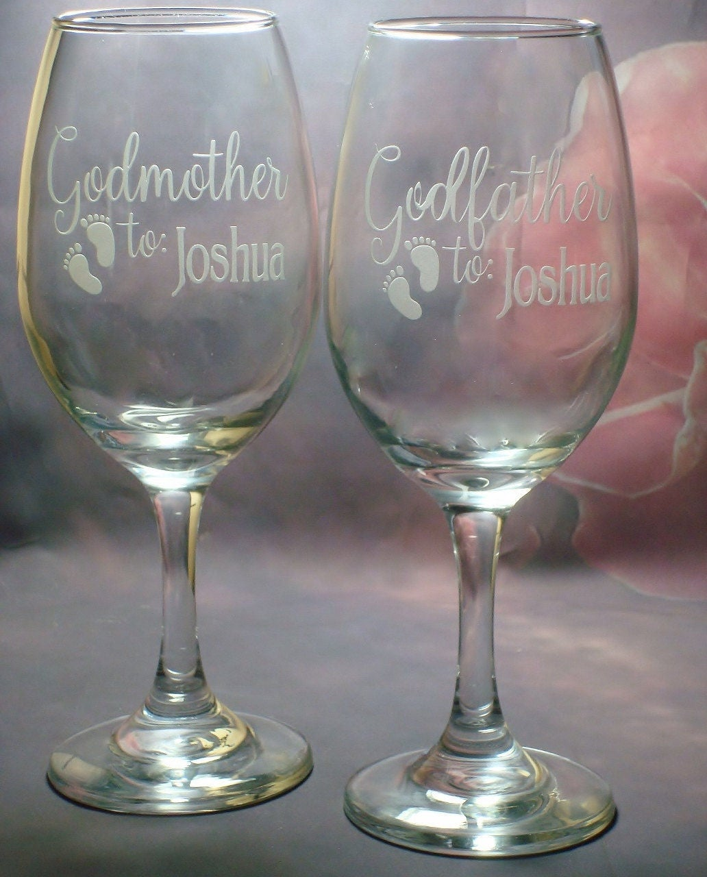 Free Engraving Godmother Gift Christening Gift Personalised 10oz Wine Glass