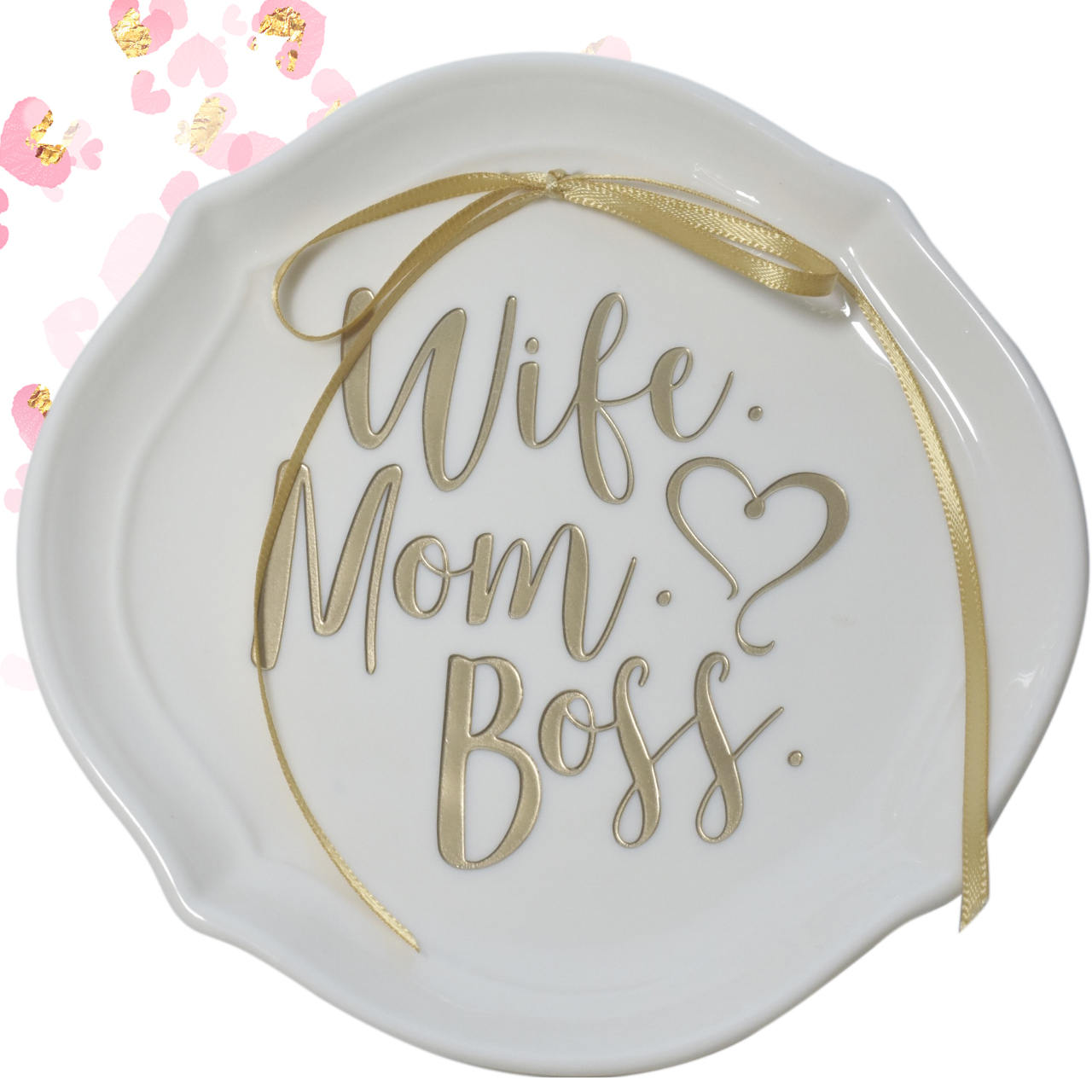 Wife Mom Boss Ring Dish, Trinket Dish, Mothers Day Gift, Boss Mom, Gift for Her, Rose Gold, Gift for Mom, Gift for Mom, Girlfriend Gift,