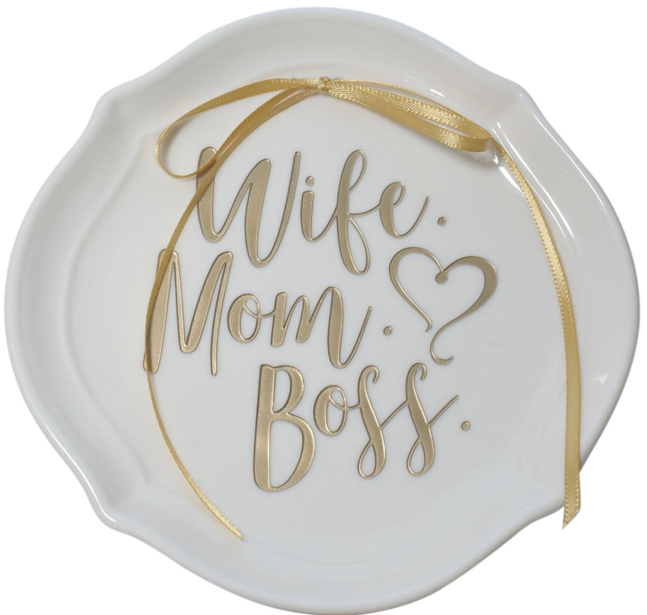 Gold or Rose Gold Wife Mom Boss Ring Dish Mothers Day Birthday Gift for Her Unique Christmas gift for Mom,