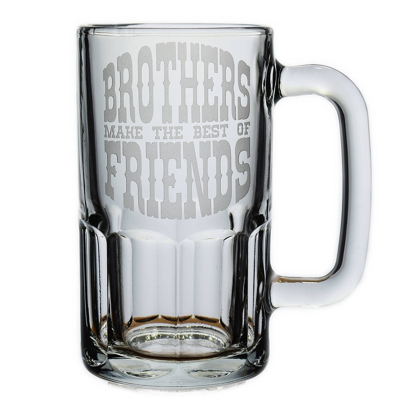 Personalized Brothers Make The Best Of Friends Glass Beer Mug Stein Brother Birthday Groomsman Gift
