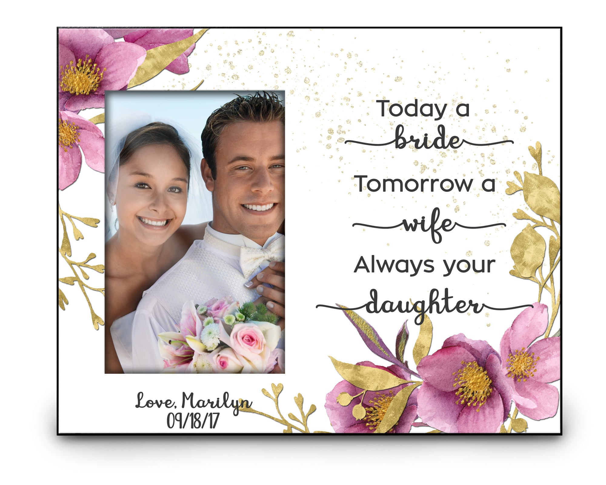 Personalized Thank You Wedding Gift from Daughter Today a Bride - Always your Daughter Photo Frame Coffee Mug Gift Set