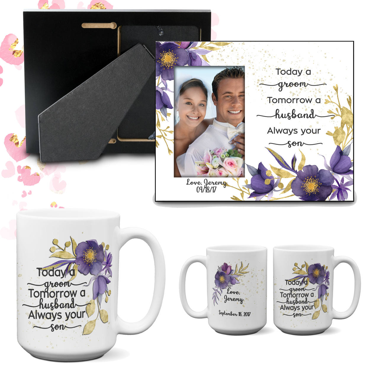 Parent Thank You Wedding Gift Today a Groom - Always your Son Frame Coffee Mug Gift From Son