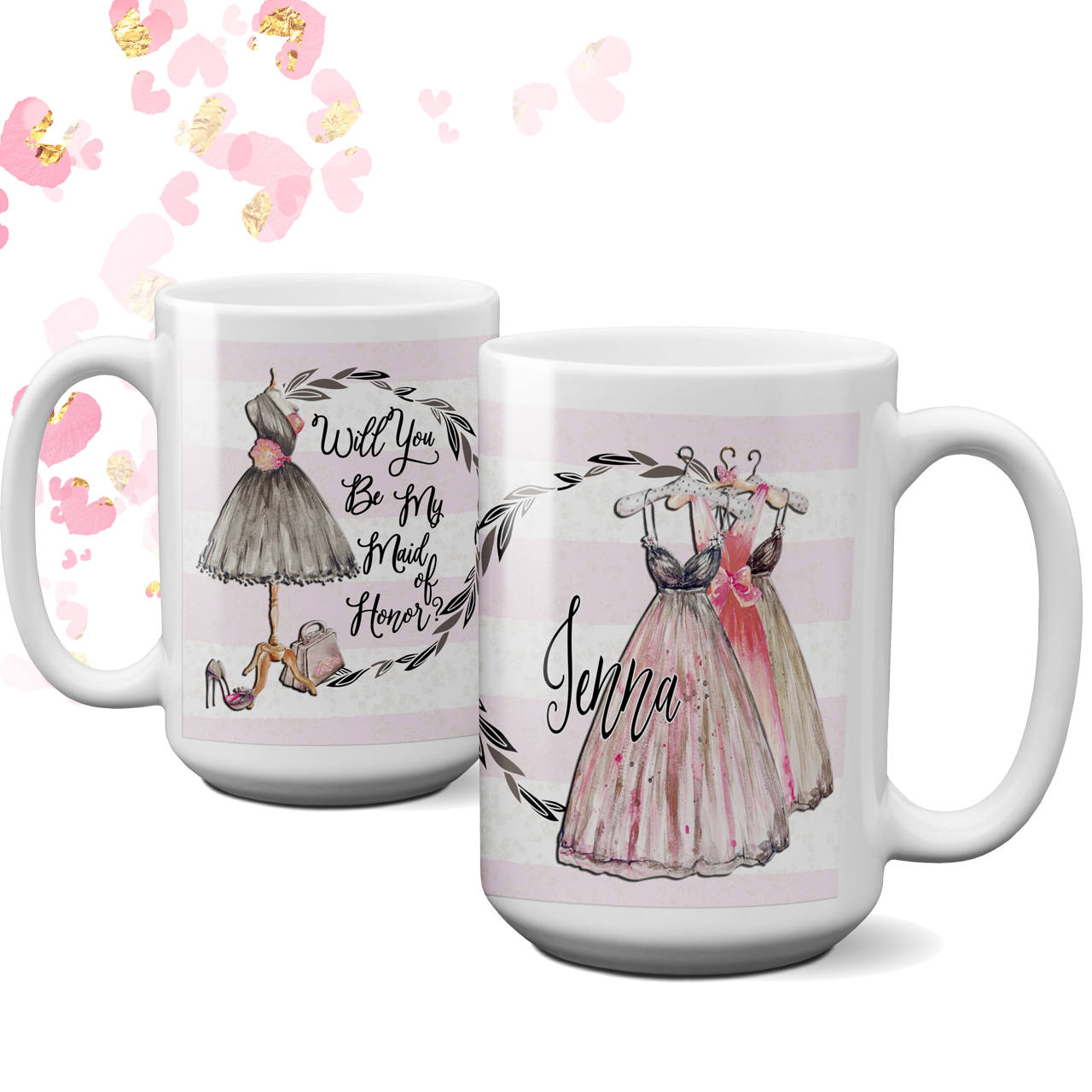 Personalized Will You be My Maid of Honor coffee mug | Retro Style Maid of Honor | Maid of Honor Proposal | Be my Maid of Honor Coffee Cup