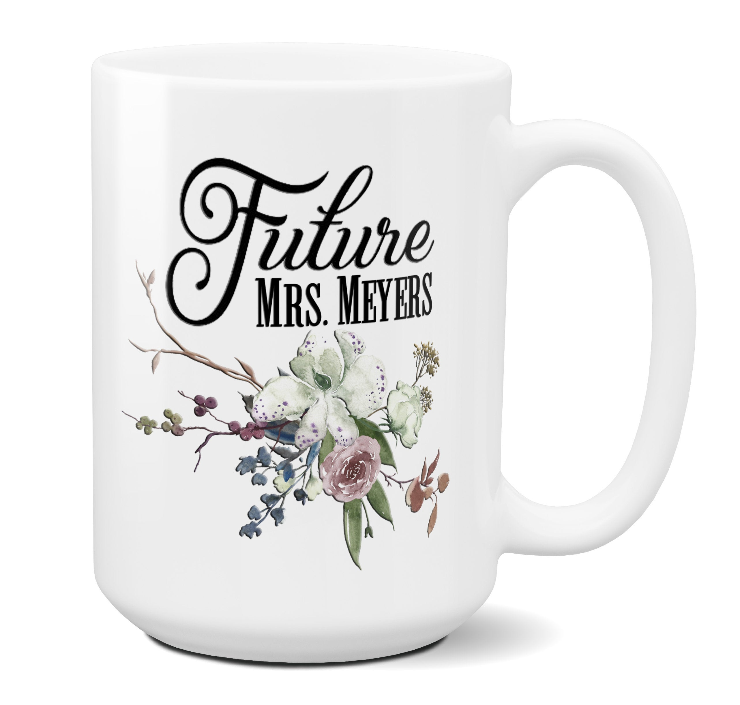 Personalized Future Mrs Coffee Mug Engagement Gifts For Her Bride to Be Bridal Shower Gift Mrs to Be