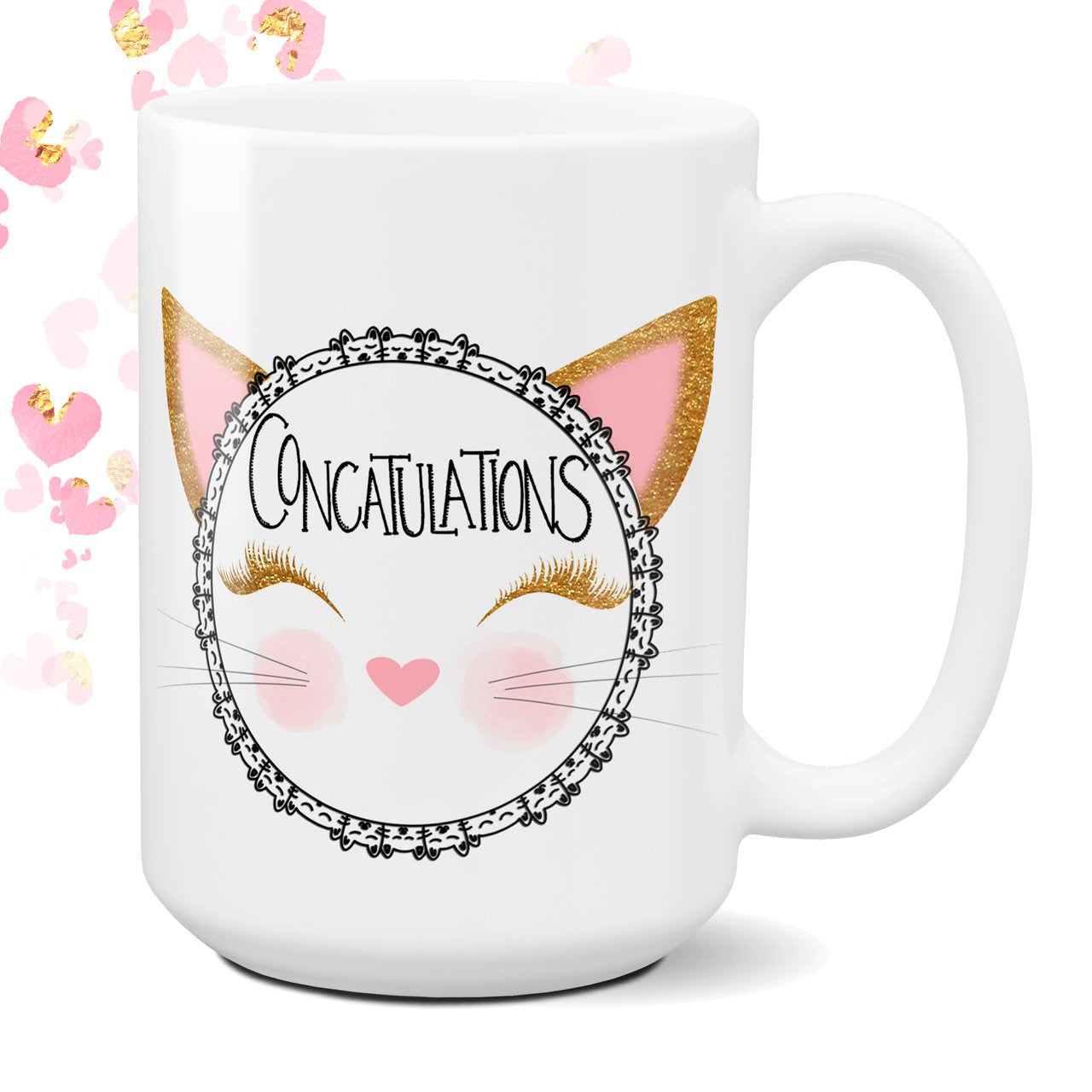 Concatulations Personalized Cat Theme Coffee Cup Birthday Gift Congratulations Graduation Gift