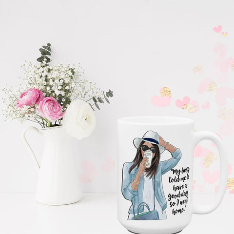 Office Coffee Girls Series | Funny Mugs for Women | Sassy Attitude Mug | Large 15 oz Coffee Cups Mugs | Coworker Gift Ideas | Best Friend
