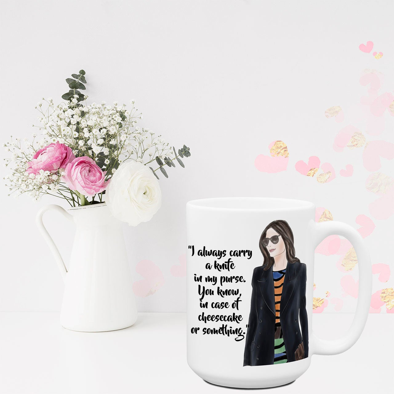 I Always Carry A Knife Funny Coffee Mugs for Women Sassy Attitude Coworker Work Friend Gift for Her