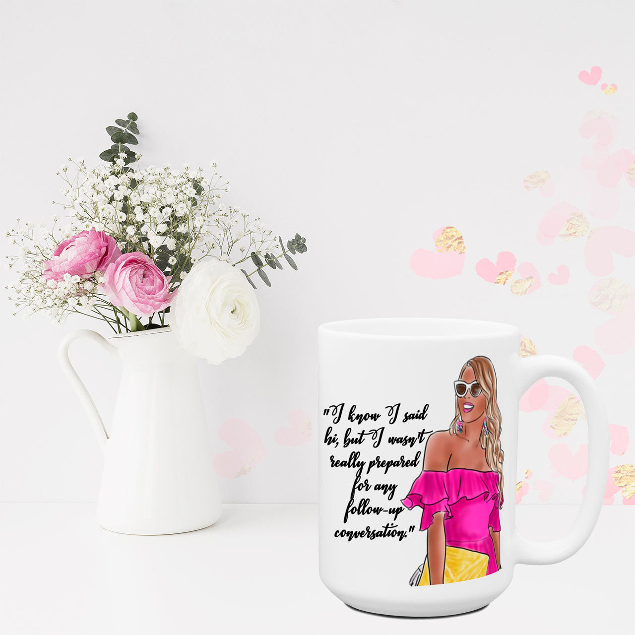 Not Prepared for Follow up Conversation Funny Coffee Mug | Office Humor Coworker Gift for Her | Work Friend