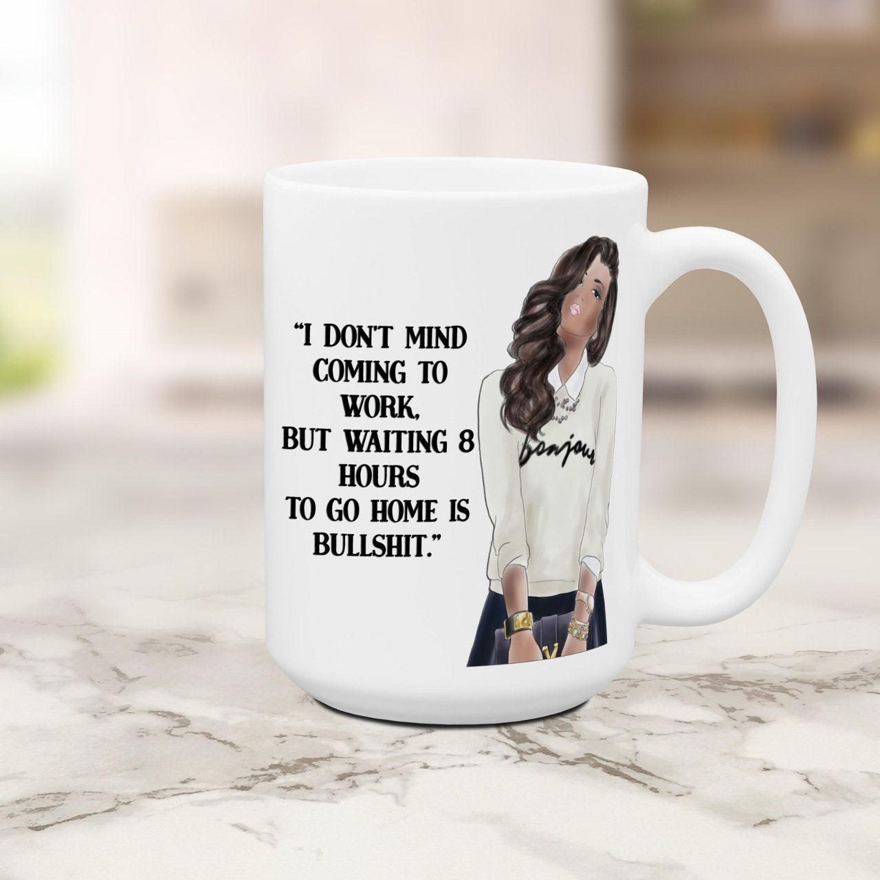 Office Coworker Girls Funny Mugs for Women Sassy Attitude Cup