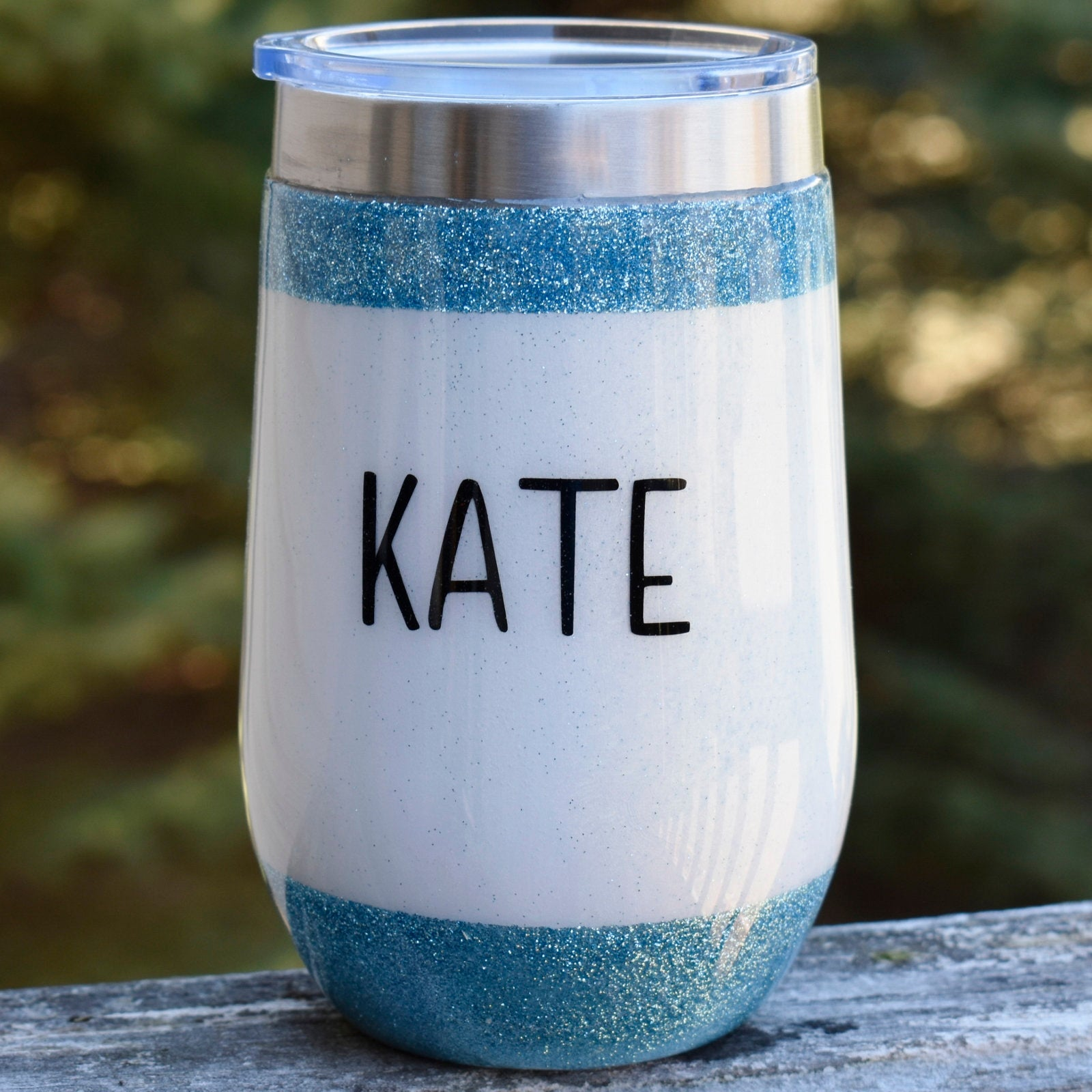 I Became A Nurse 16 oz teal glitter wine tumbler Nurse Graduation Gift for Her