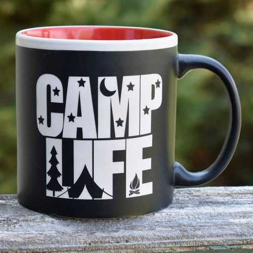Jumbo Camp Life Theme Coffee Mug Outdoor Camper Camping Lover Gift