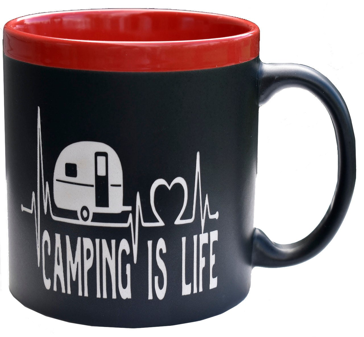 Camping is Life Camper Lifeline 22 oz Coffee Mug Outdoor Lover Gift for Him