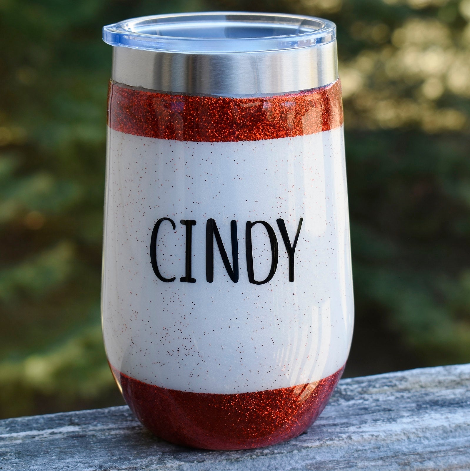 Nurse Theme 16 oz red glitter and mica wine tumbler Graduation Gift for her Wine Lover