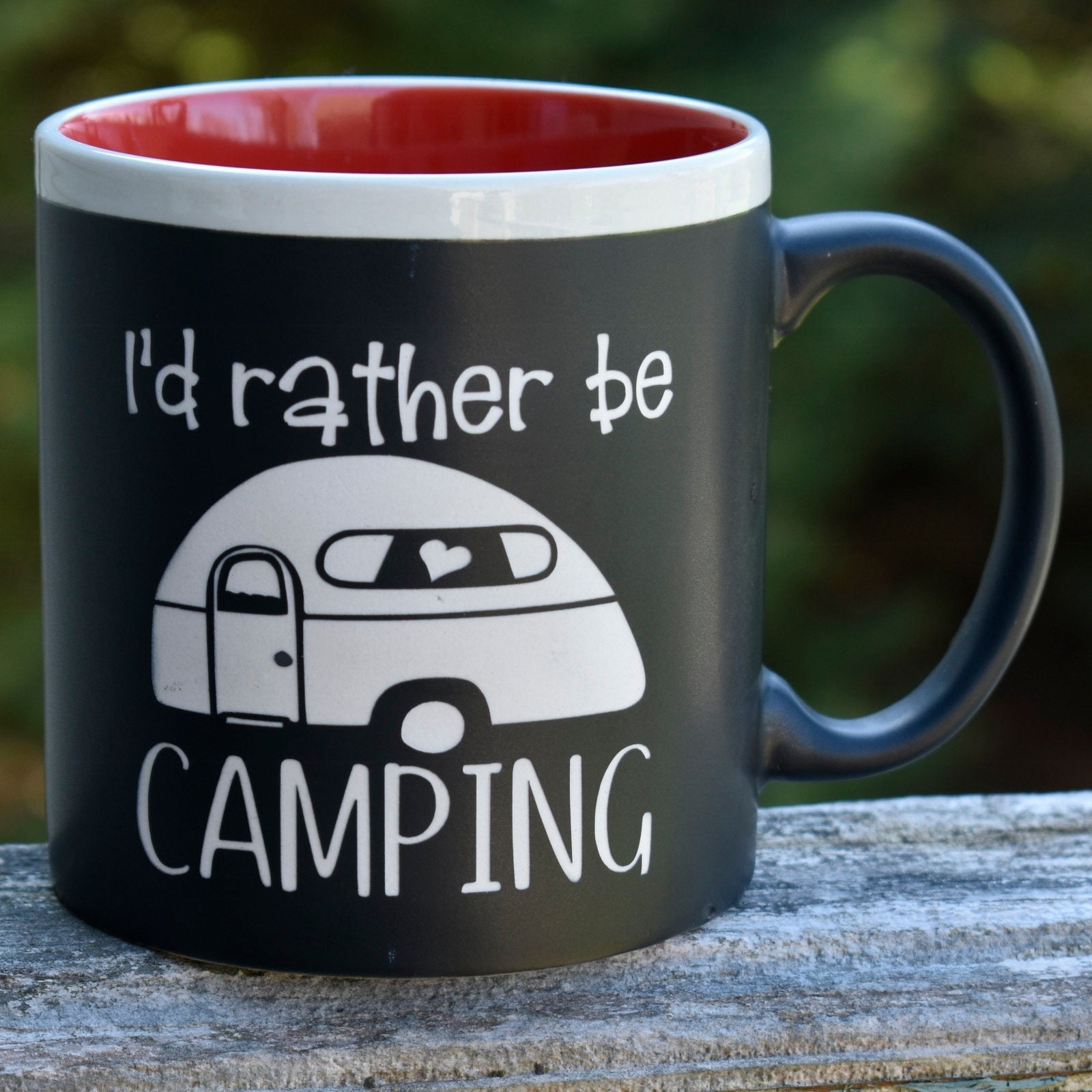Jumbo Chalkboard I'd Rather Be Camping Coffee Mug | Message Coffee Mug | Outdoor Lover Gift | Camp Coffee Cup | Camper Gift | Camping Gift