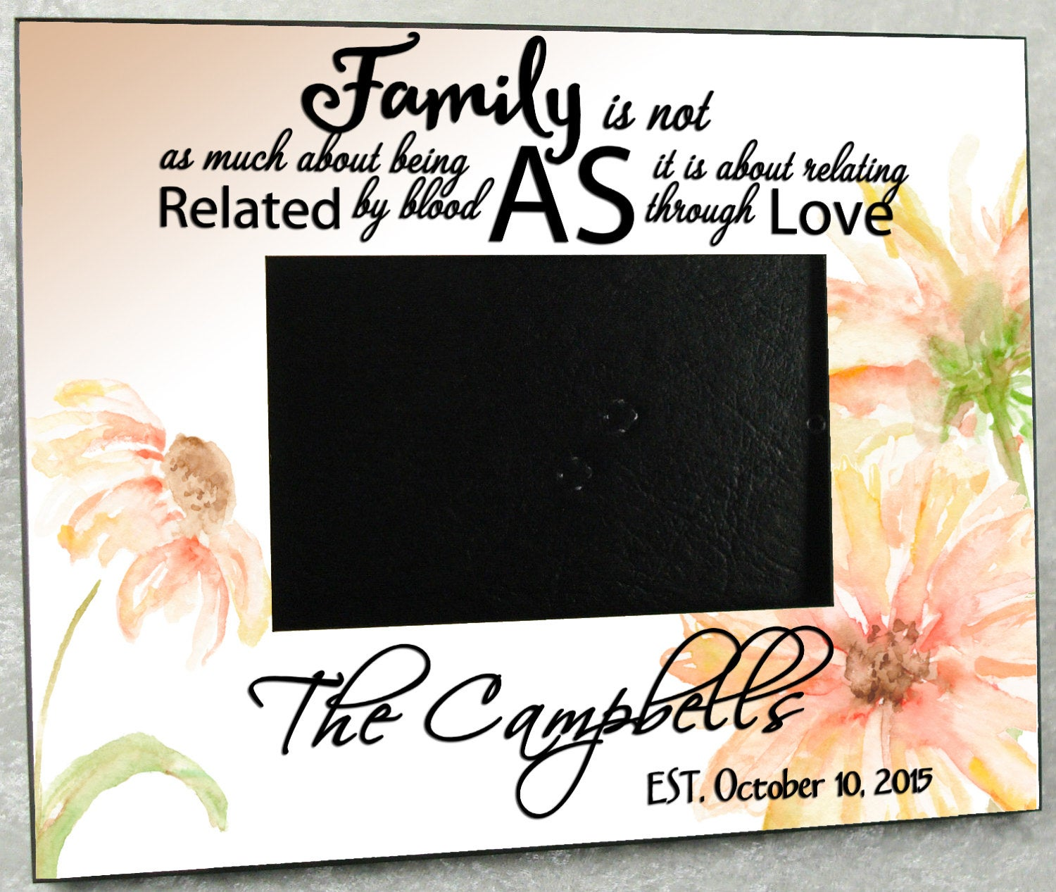 Blended Family Personalized Wedding Gift Photo Frame