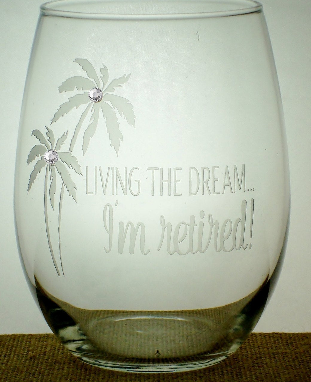 Personalized Retirement Gift - Living the Dream - I'm Retired | Retired | Retirement Teacher Gift