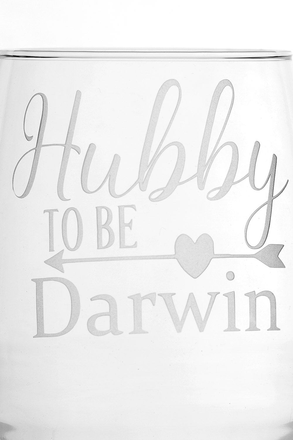 Personalized Hubby and Wifey To Be Bridal Shower Gift Engagement Gift stemless wine glass set