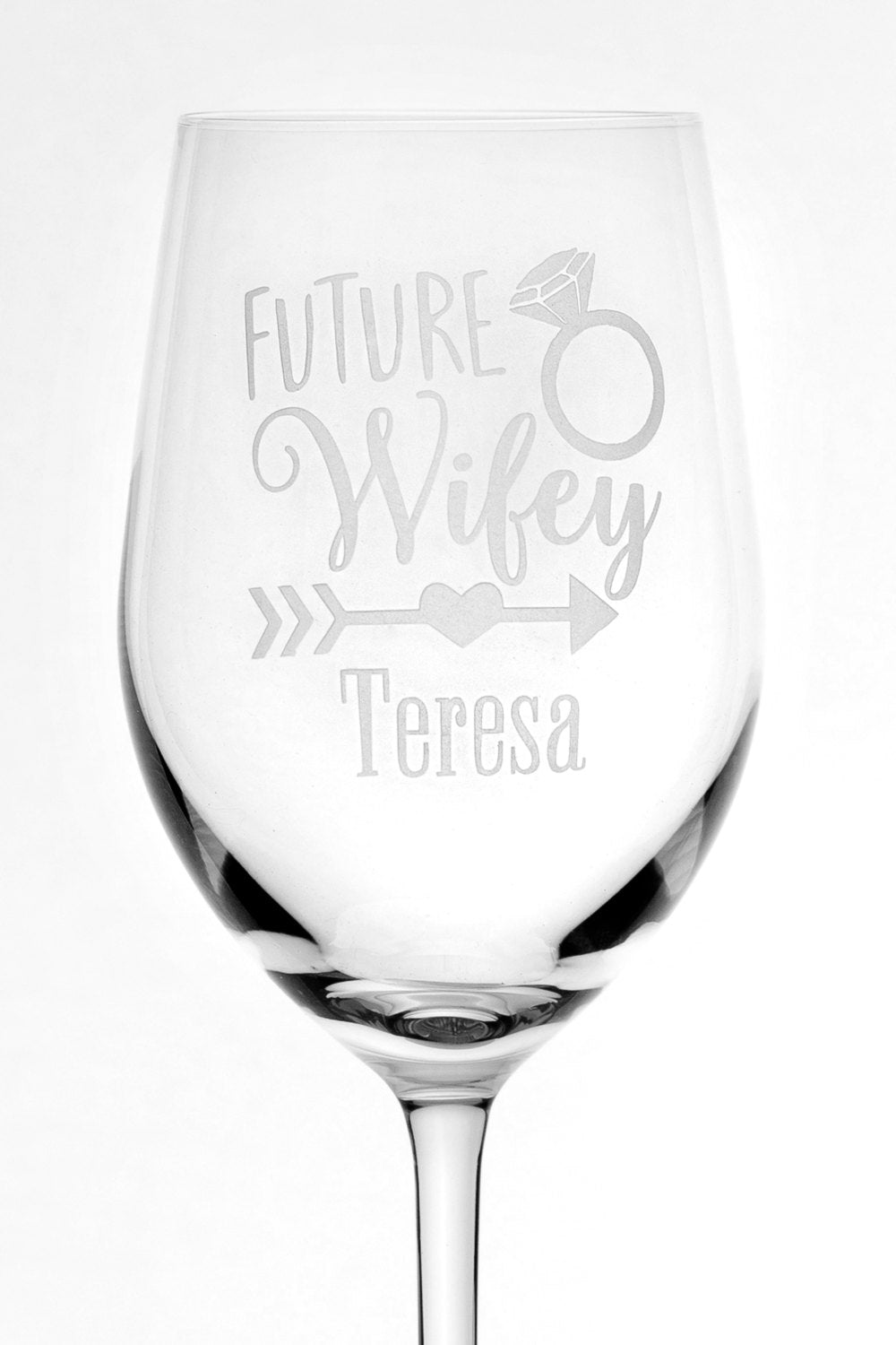 Personalized Future Wifey Engagement Gift Bride To Be Stolzle German Crystal Wine Glass Bridal Shower Gift Engagement Gift For Her