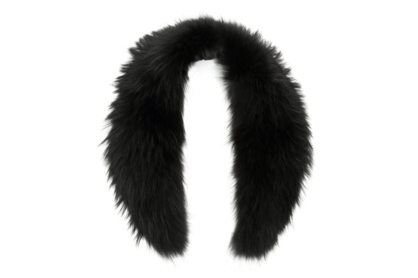 DOVER Raccoon Fur Collar | Black