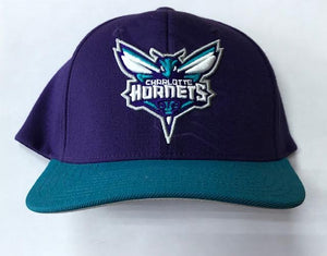 "Mitchell & Ness Charlotte Hornets Snapback ""Purple Teal"" $34.00"