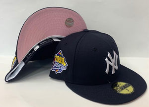 "New Era New York Yankee Fitted Pink Bottom ""Navy Blue"" (1999 World Series Embroidery)"