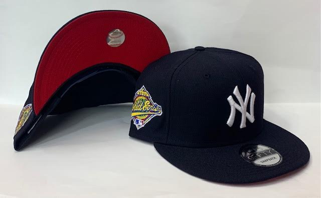 "New Era New York Yankee Snapback Red Bottom ""Navy Blue"" (1996 World Series Embroidery) $40.00"