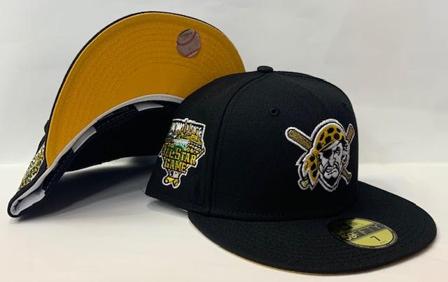 "New Era Pittsburgh Pirates Fitted Yellow Bottom ""Black White Yellow"" (2006 All Star Game Embroidery)"