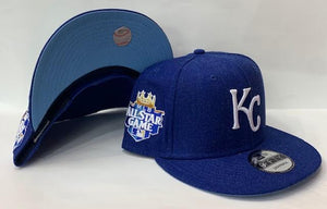 "New Era Kansas City Royals Snapback Sky Blue bottom ""Royal White"" (2012 All Star Game Embroidery)"