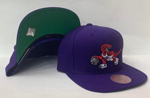 "Mitchell & Ness Toronto Raptors Team Ground Snapback Green Bottom ""Purple Red"""