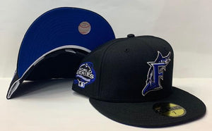 "New Era Florida Marlins Fitted Royal Bottom ""Black Royal"" (2003 World Series Embroidery)"