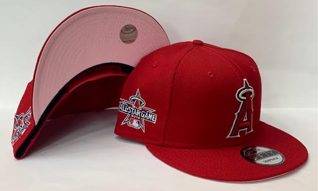 "New Era L.A. Anaheim Fitted Angels Snapback Pink Bottom ""Red Red"" (2010 All Star Game Embroidery)"