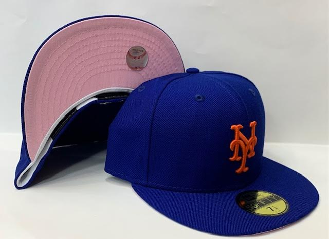 "New Era New York Mets Fitted Pink Bottom ""Royal Orange"""