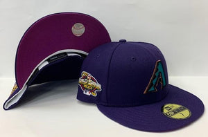 "New Era Arizona Diamondbacks Fitted Purple Bottom ""Purple Teal"" (2001 World Series Embroidery)"